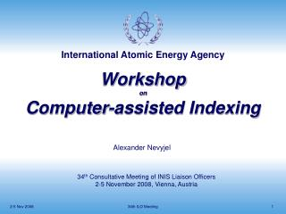 Workshop on Computer-assisted Indexing