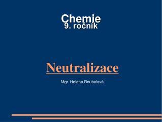 Chemie  9. ročník