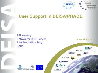 User Support in DEISA/PRACE
