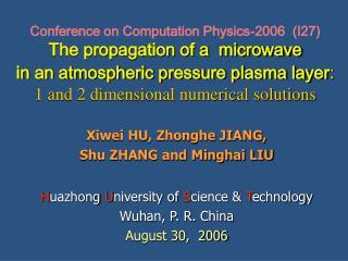 Xiwei HU, Zhonghe JIANG,  Shu ZHANG and Minghai LIU
