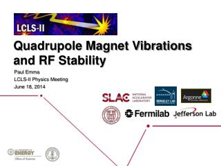 Quadrupole Magnet Vibrations and RF Stability