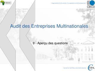 Audit des Entreprises Multinationales