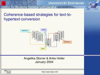 Coherence-based strategies for text-to-hypertext-conversion