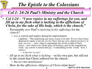 A study of Isaiah s God  His servants