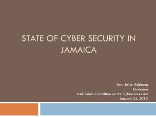 State  of cyber  security in  Jamaica
