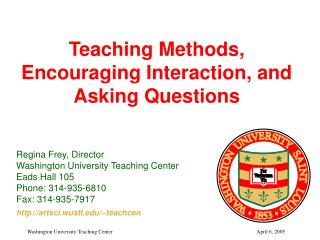 Teaching Methods, Encouraging Interaction, and Asking Questions