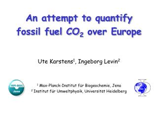 An attempt to quantify fossil fuel CO 2  over Europe
