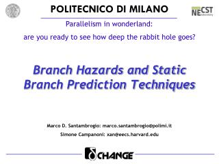 Branch Hazards and Static Branch Prediction Techniques