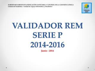 VALIDADOR REM SERIE P 2014-2016 Junio - 2014