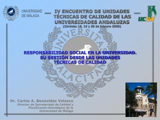 RESPONSABILIDAD SOCIAL EN LA UNIVERSIDAD. SU GESTIÓN DESDE LAS UNIDADES TÉCNICAS DE CALIDAD