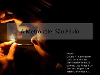 A  Metrópole : São Paulo