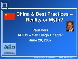 China & Best Practices – Reality or Myth?