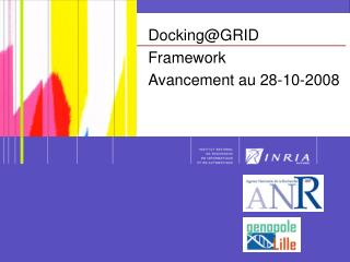 Docking@GRID Framework Avancement au 28-10-2008