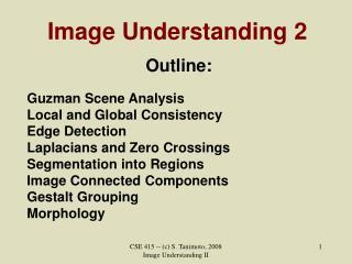 Image Understanding 2