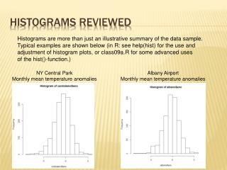 Histograms REVIEWED