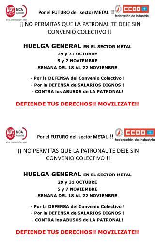 Por el FUTURO del  sector METAL   !!