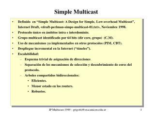 Simple Multicast
