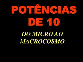 POT�NCIAS DE 10