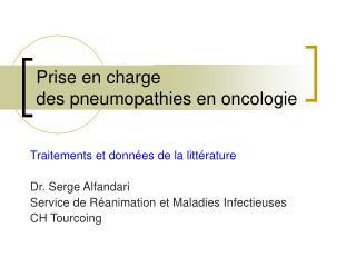 Prise en charge des pneumopathies en oncologie