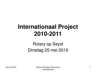 Internationaal Project 2010-2011