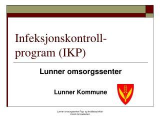 Infeksjonskontroll- program (IKP)