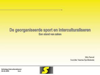 De georganiseerde sport en interculturaliseren Een stand van zaken