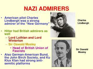 NAZI ADMIRERS