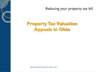 Reducing your property tax bill