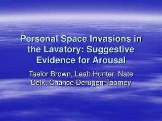 Personal Space Invasions in the Lavatory: Suggestive Evidence for Arousal