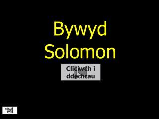 Bywyd  Solomon