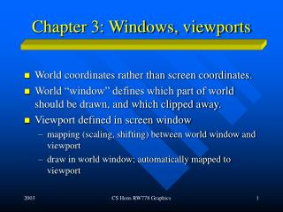 Chapter 3: Windows, viewports