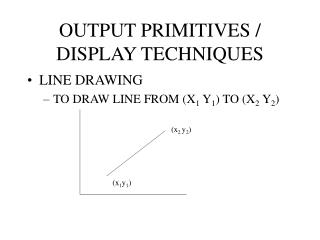 OUTPUT PRIMITIVES / DISPLAY TECHNIQUES