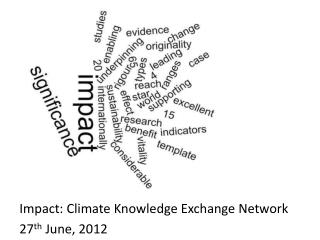 Impact: Climate Knowledge Exchange Network 27 th  June, 2012