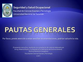 Pautas Generales