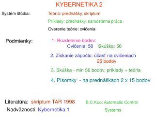 KYBERNETIKA 2