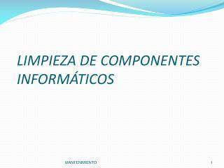 LIMPIEZA DE COMPONENTES INFORM�TICOS