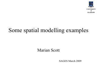 Some spatial modelling examples