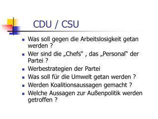 CDU / CSU