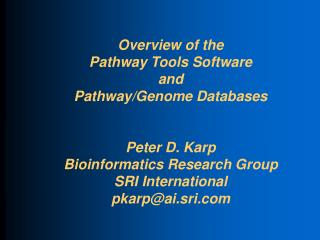 Pathway/Genome Database