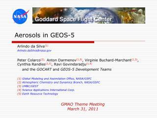 Aerosols in GEOS-5