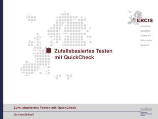 Zufallsbasiertes Testen  mit QuickCheck