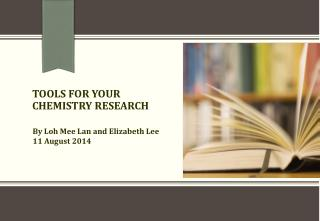 TOOLS FOR YOUR CHEMISTRY RESEARCH
