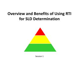 Overview and Benefits of Using RTI for SLD Determination