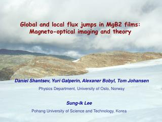 Global and local flux jumps in MgB2 films: Magneto-optical imaging and theory