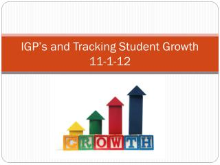 IGP's and Tracking Student Growth 11-1-12