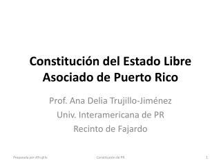 Constitución del Estado Libre Asociado de Puerto Rico