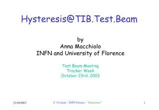 Hysteresis@TIB.Test.Beam