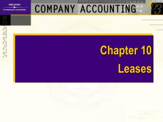 Chapter 10 Leases