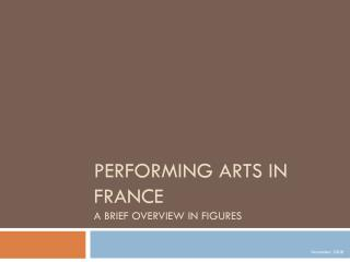 Performing arts in France a brief overview in figures
