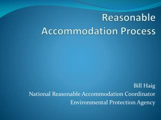 Reasonable Accommodation Process